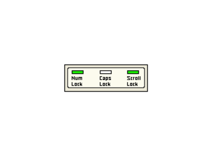 NumCapsScroll Indicator