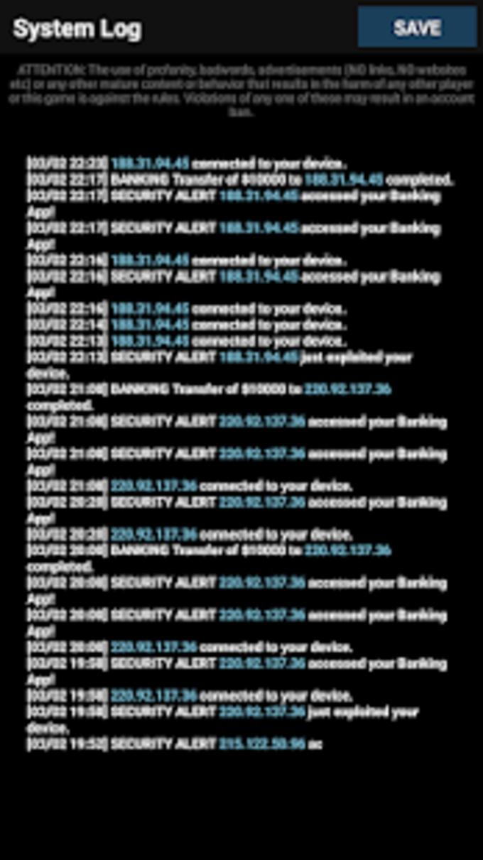 vHackOS  Mobile Hacking Game