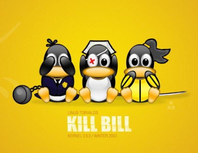 Kill Bill Tux Wallpaper