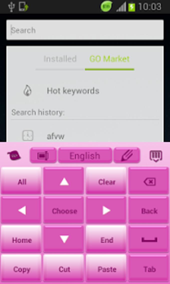 Blanco rosa libre del teclado