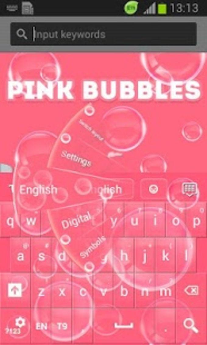 Pink Bubbles GO Keyboard