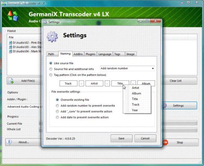 GermaniX Transcoder