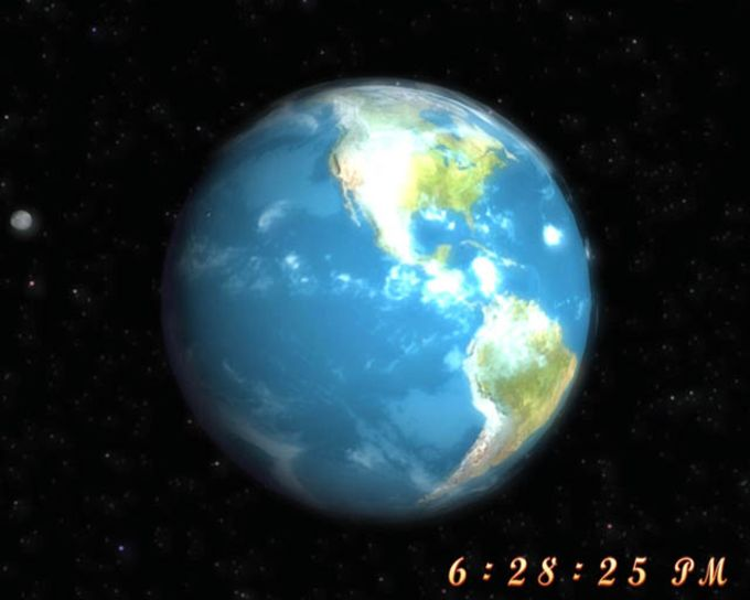 Free 3D Earth Screensaver