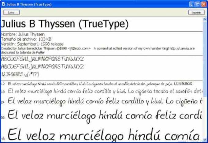 TrueTypeFonts