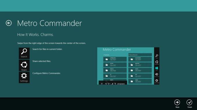 Metro Commander para Windows 10