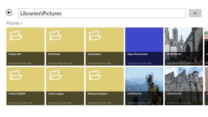 Libraries File Explorer App für Windows 10