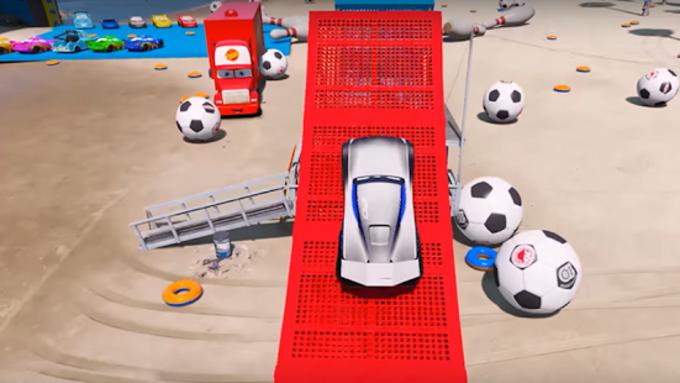 Superheroes Car Stunt Racing Games