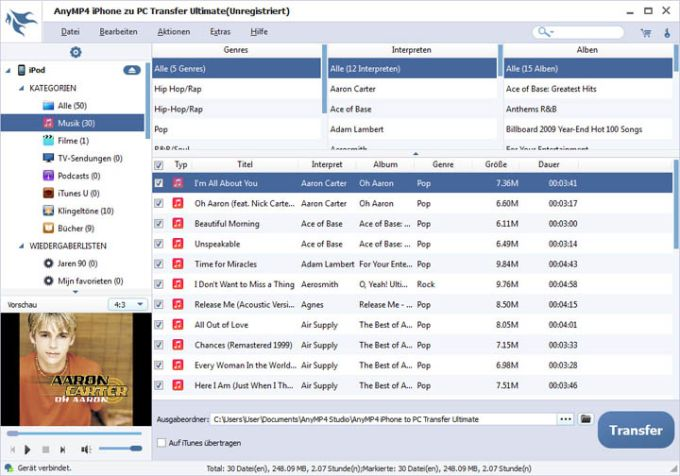 AnyMP4 iPhone to PC Transfer Ultimate