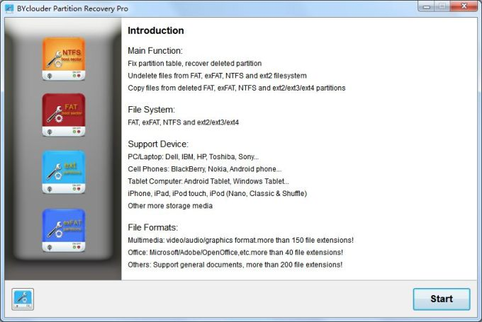BYclouder Partition Recovery Pro