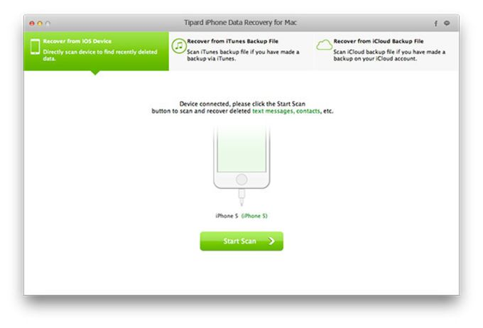 Tipard iPhone Data Recovery for Mac