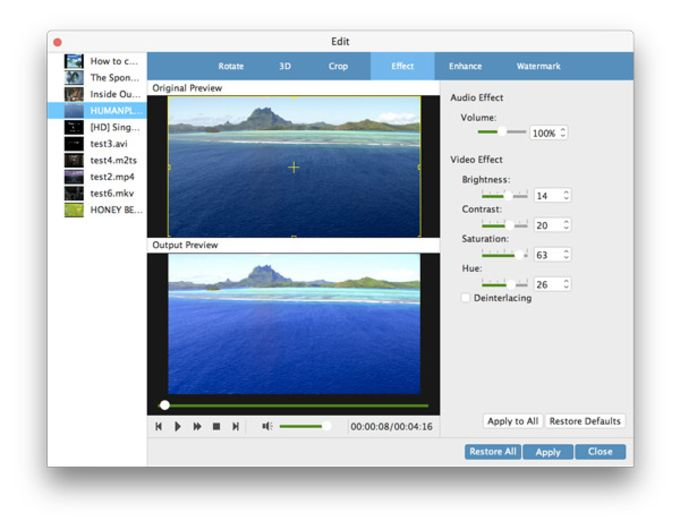 Tipard Mac Video Enhancer