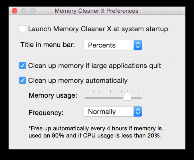 Memory Cleaner X