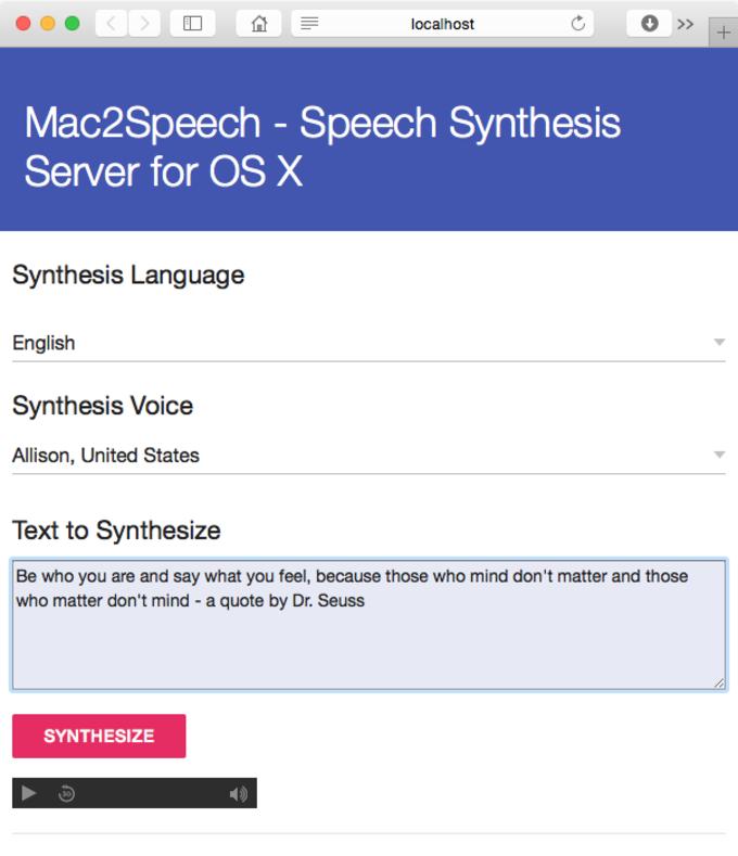 Mac2Speech