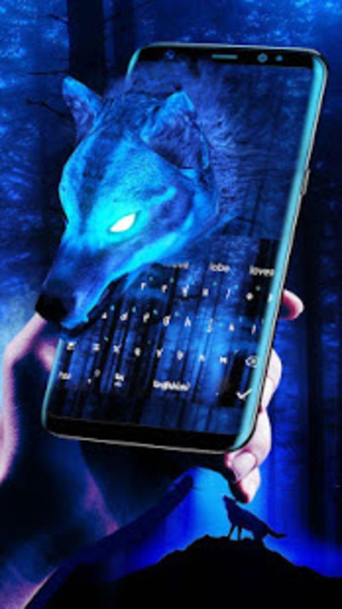 Ice Wolf 3D Keyboard Theme