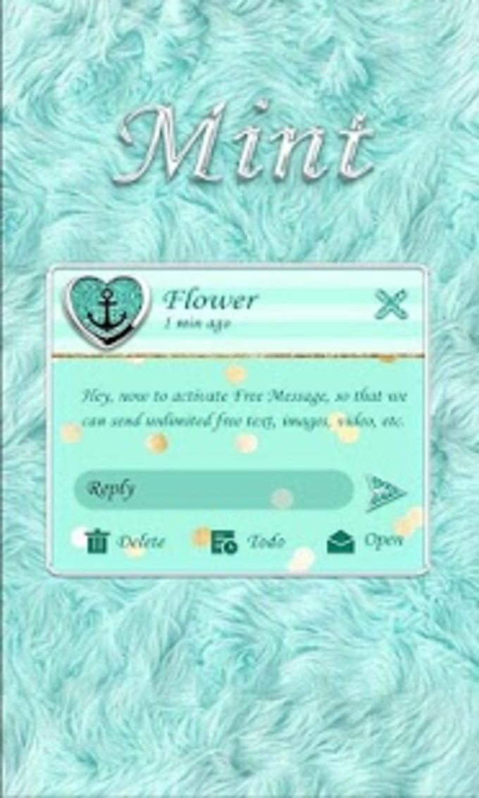 (FREE) GO SMS MINT THEME