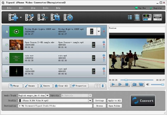 Tipard iPhone Video Converter