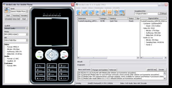 MediaCoder 3GP Mobile Phone Edition