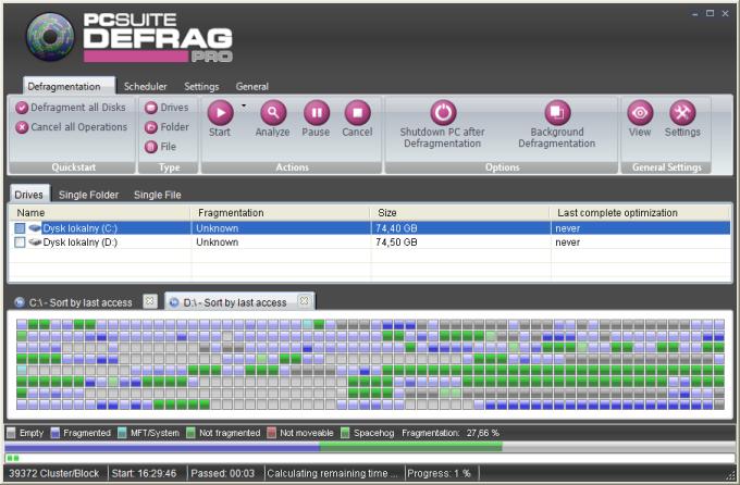 PCSuite Defrag