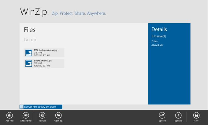 WinZip for Windows 10