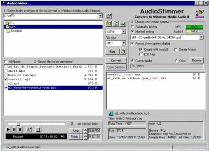 AudioSlimmer