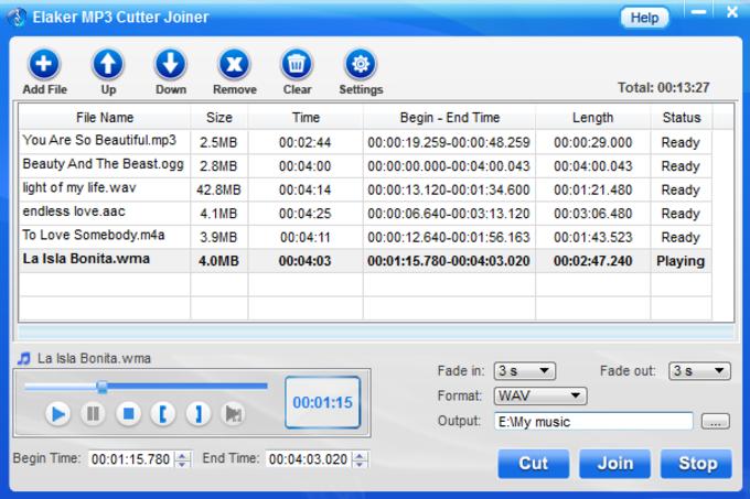Elaker MP3 Cutter Joiner
