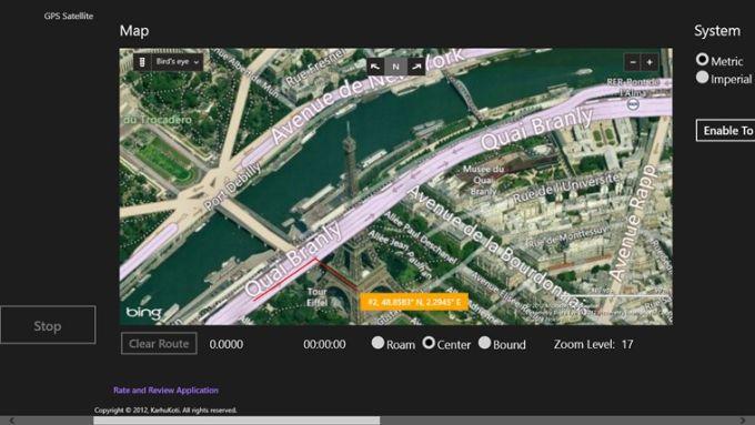 GPS Satellite for windows 8