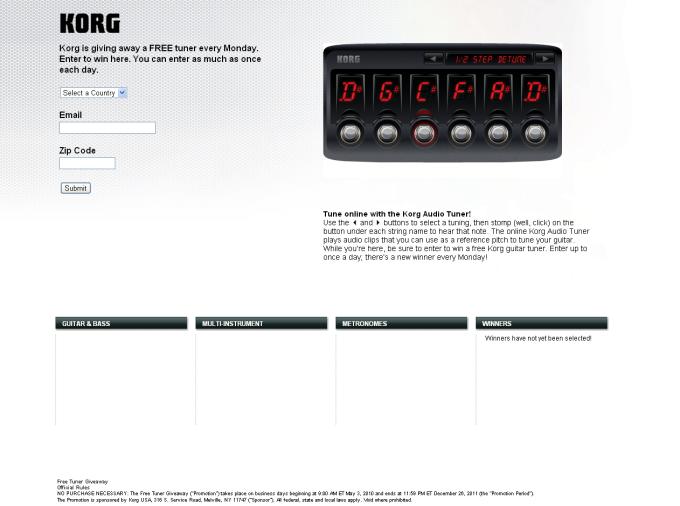 Korg Audio Tuner