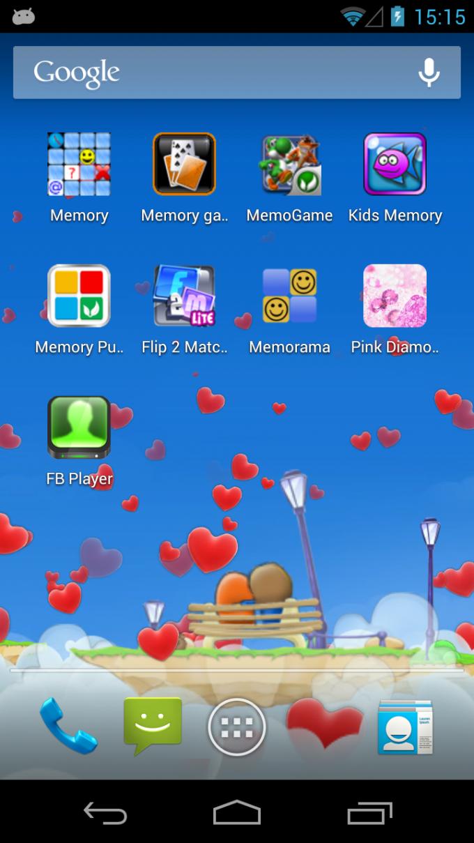 Love Hearts 3D Live Wallpaper