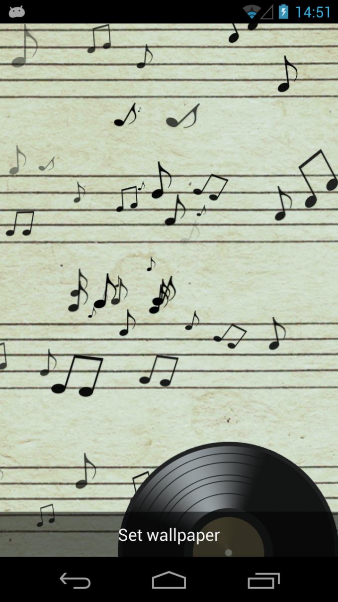 Music Notes 3D Live Wallpaper