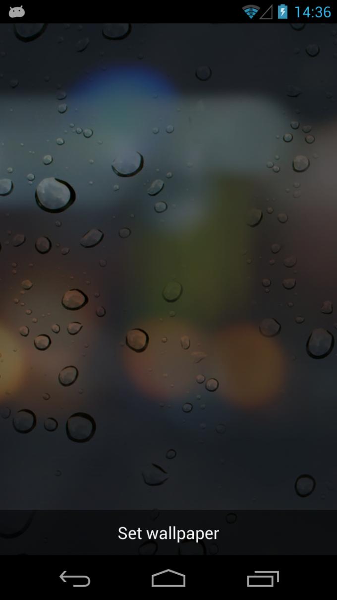 Rain Drops 3D Live Wallpaper