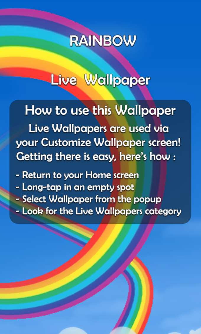 Rainbow 3D Live Wallpaper