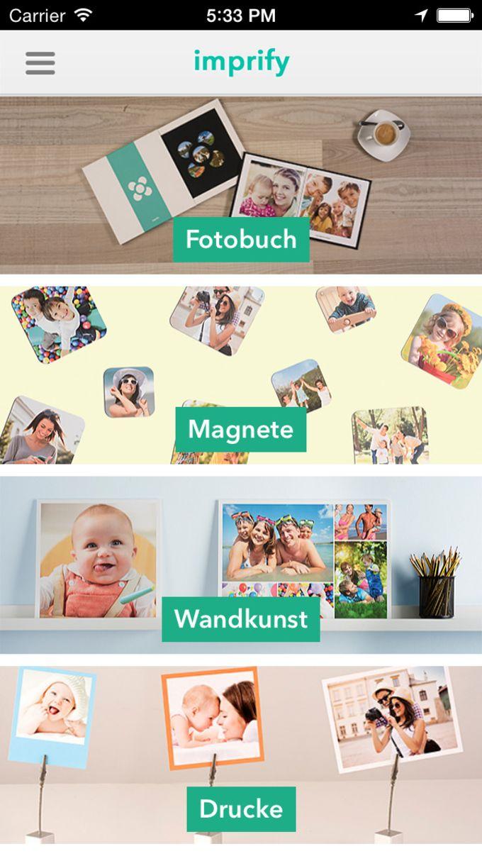 Imprify: imprime tus álbumes de fotos, impresiones fotográficas, imanes, cuadros y regalos