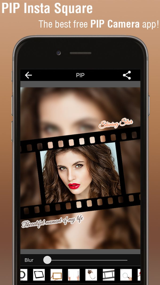 PIP Camera - Plaza Image Maker y Photo Editor con diseño de Instagram