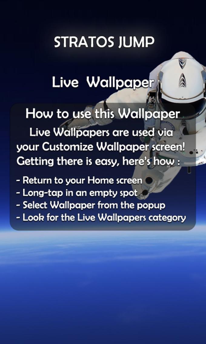 Stratos Jump 3D Live Wallpaper