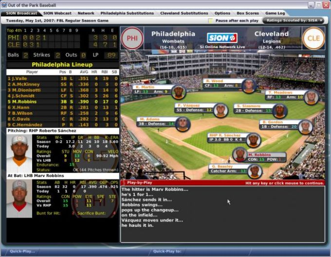 Out of the Park Baseball Manager