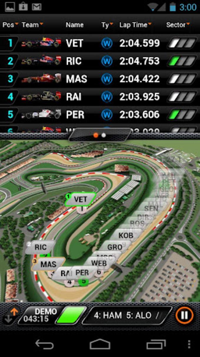 F1 2012 Timing App
