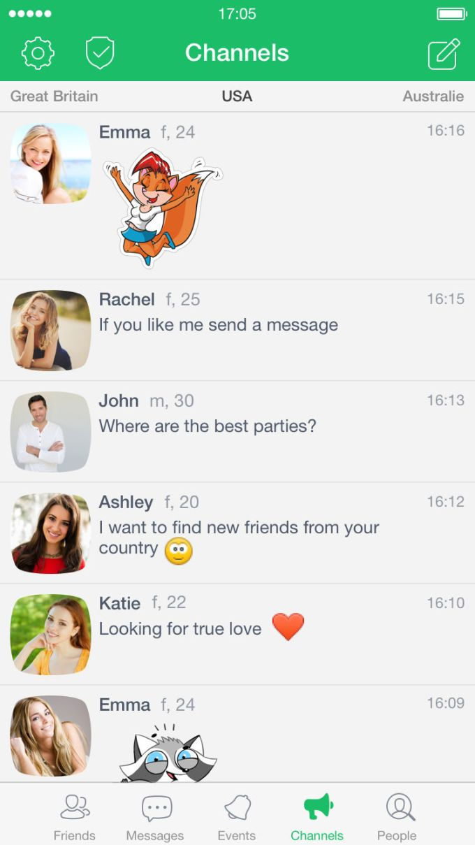 Frim - chat for friends