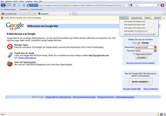 LastPass Portable for Firefox