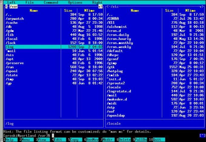 GNU Midnight Commander