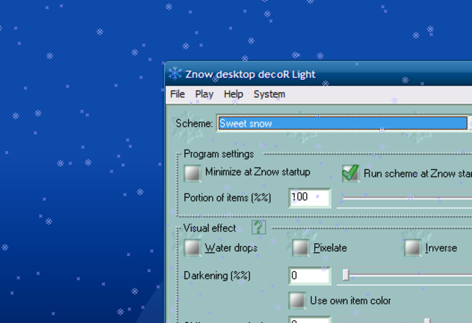 Znow Desktop Decoration
