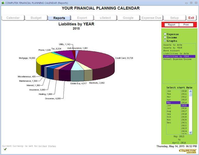 Computek Financial Planning Calendar
