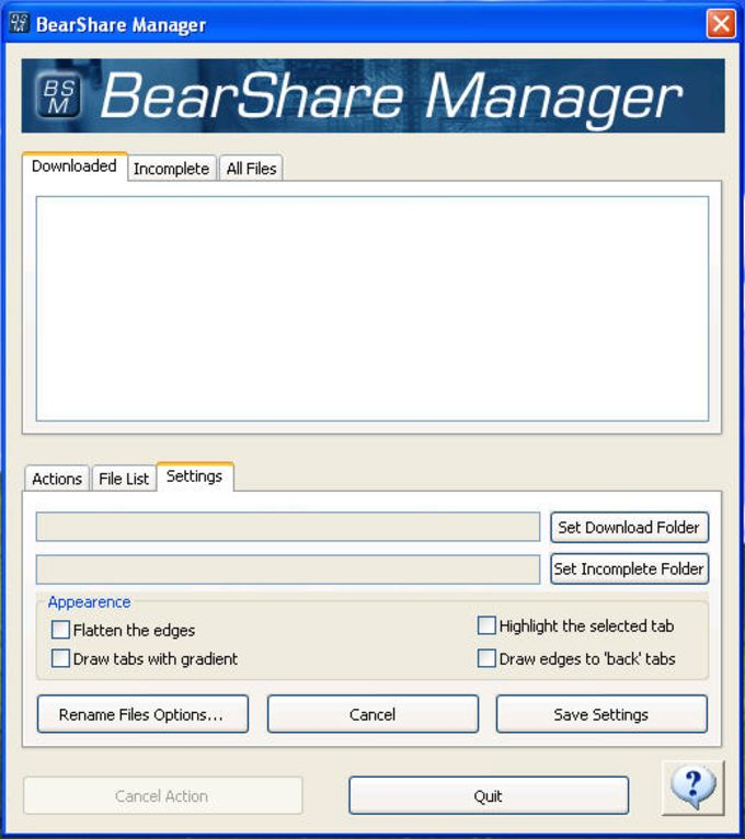 BearShare Manager