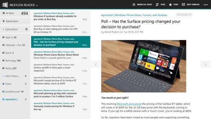 Nextgen Reader for Windows 10