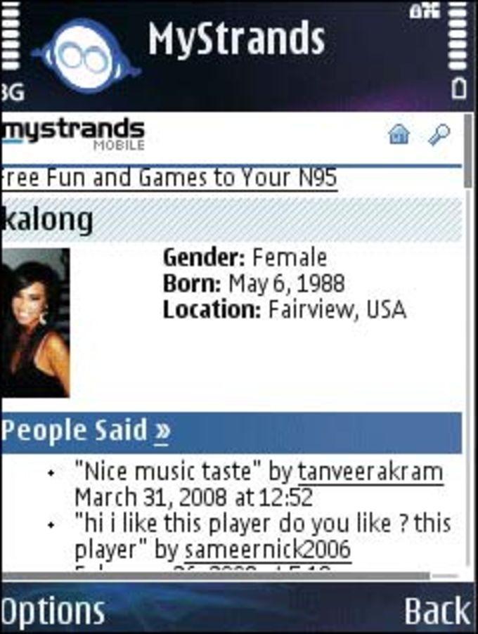 MyStrands Social Player