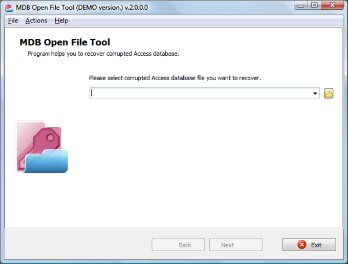 MDB Open File Tool