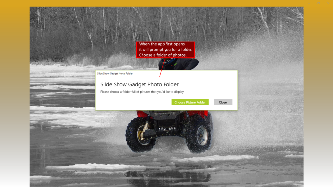 Slide Show Gadget
