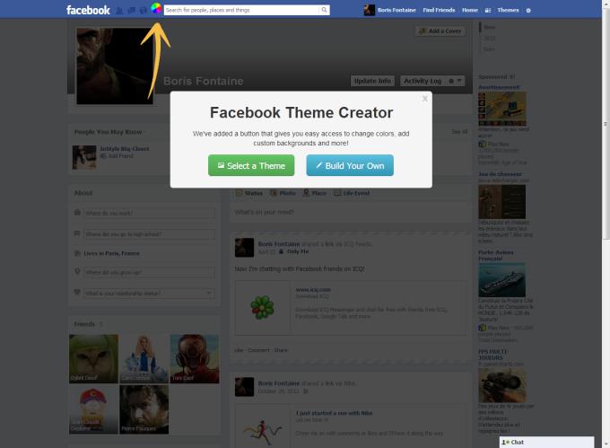 Facebook Theme Creator