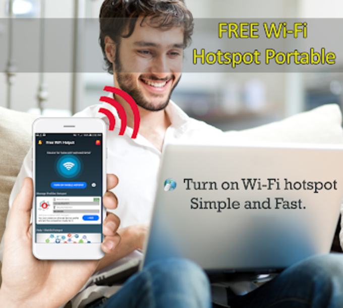 Connect Internet Free WiFi  Hotspot Portable