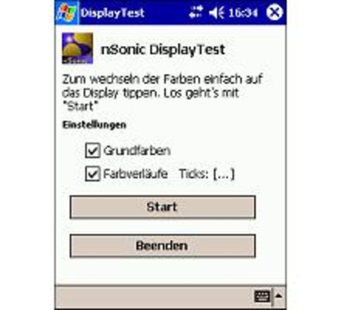 DisplayTest Für Pocket PC