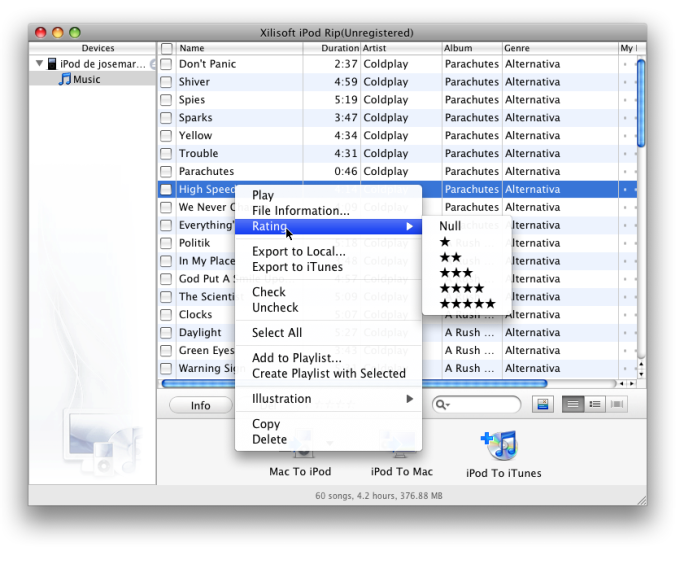 Xilisoft iPod Mate for Mac